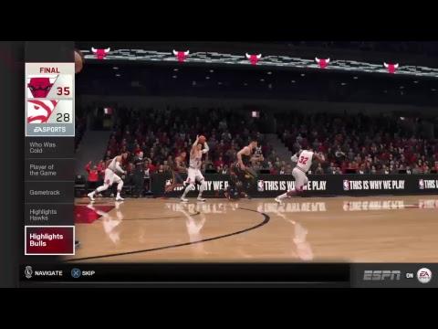 Atlanta Hawks At Chicago Bulls|NBA Live 19 Rosters|NBA Live 18