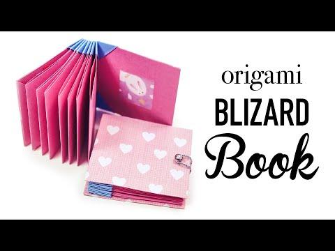 Origami Book - Blizzard Style Tutorial - DIY - Paper Kawaii