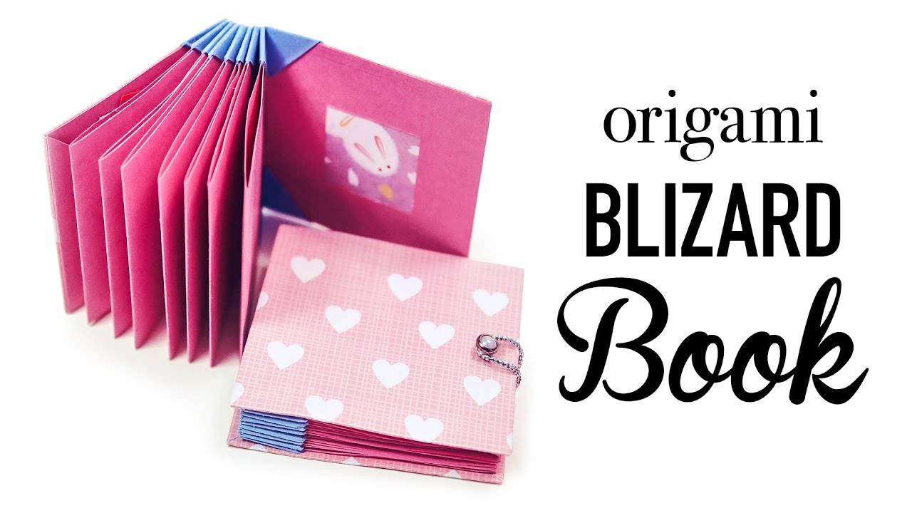 How To Make A Book Keychain : Origami book blizzard style tutorial ︎ diy youtube
