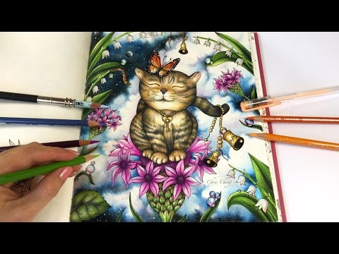 Freedom - Part 3: Flowers and Dew Drops Coloring | Magical Delights Coloring Book