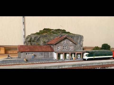 Part 1 Ongoing building project  Railroad station Kibri 6703  Z scale