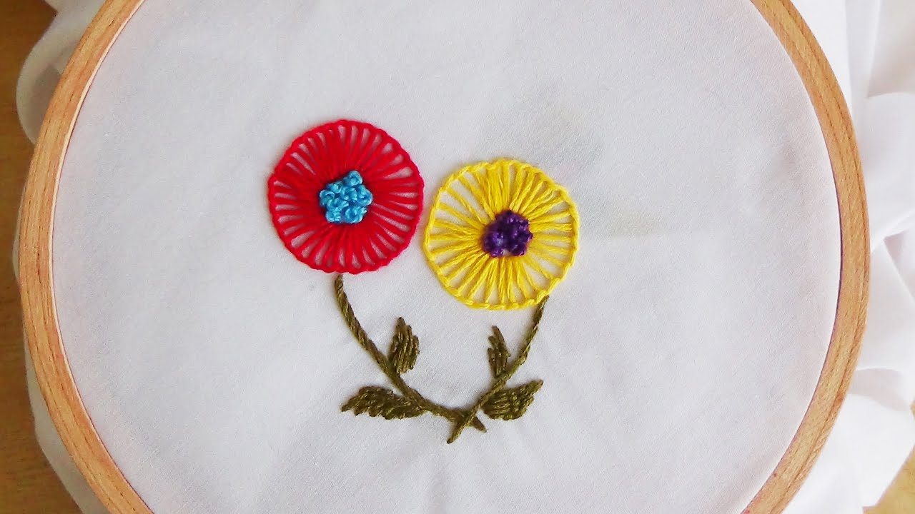 Circular Embroidery Flowers Patterns Gardening Flower And Vegetables