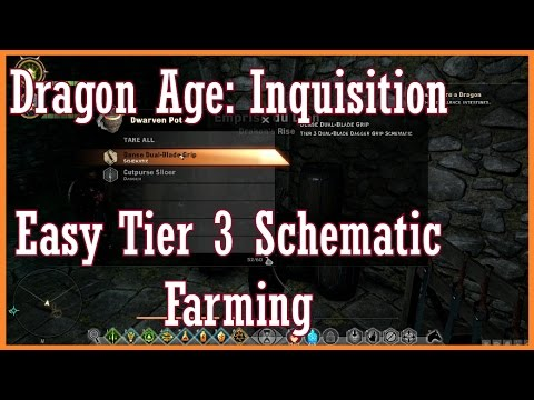 Dragon Age Inquisition - Easy Tier 3 Schematic Farming - YouTube