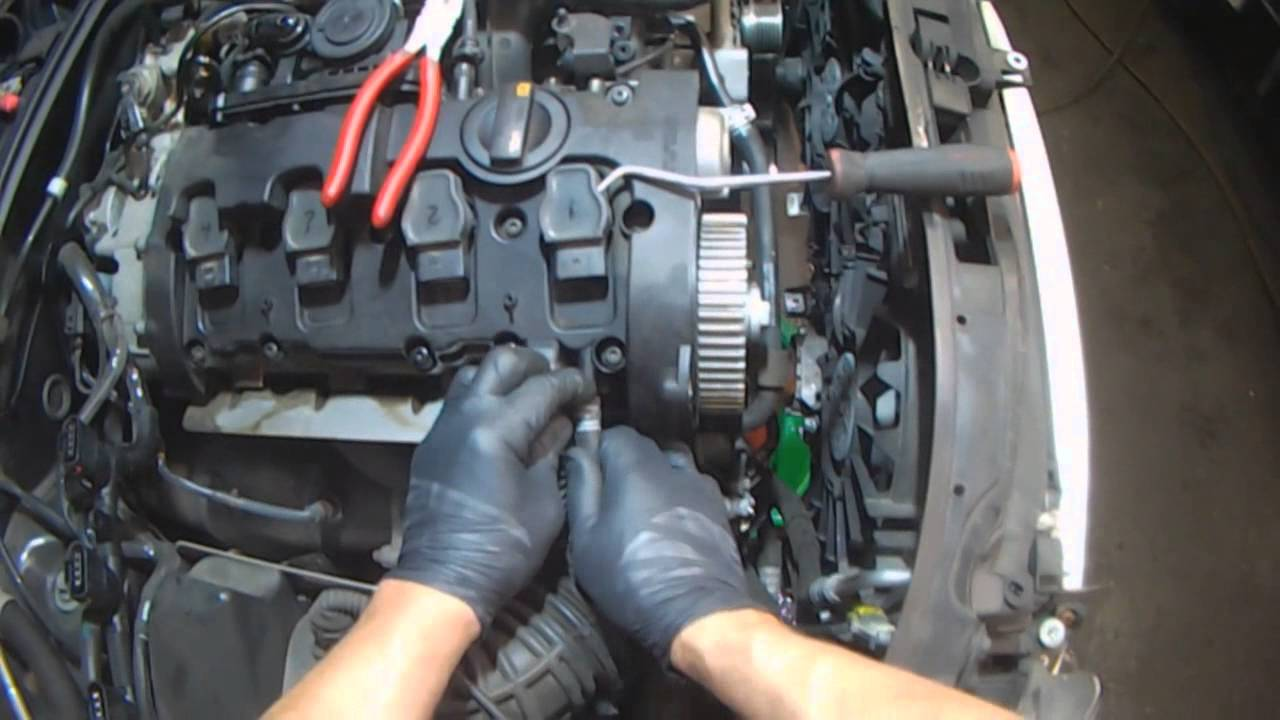 audi b7  2 0t bwt valve cover gasket removal