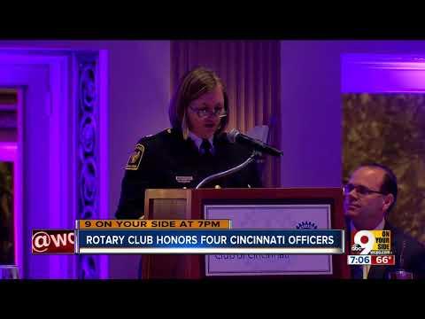 Rotary Club honors four Cincinnati officers