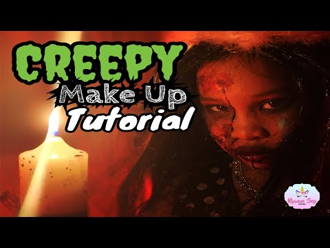 HALLOWEEN MAKEUP TUTORIAL - KIDS Creepy Makeup [PART1] Rianne Sep