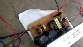 Chạy thử mạch Sub 250w + mạch 12v to +-30V