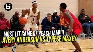 THIS MOST LIT GAME OF NIKE PEACH JAM! Avery Anderson VS Tyrese Maxey
