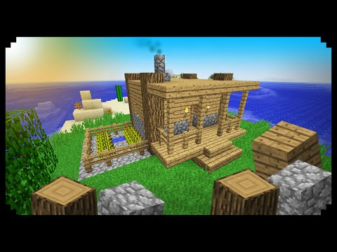 ✔ Minecraft: How to make a Starter House (Wood and Cobblestone)