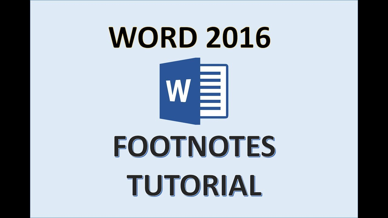 Word 2016 How To Add Footnotes Insert Footnote Tutorial In