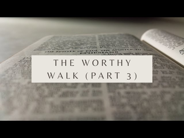 The Worthy Walk (Part 3) - Ephesians 4:1-3 (Pastor Robb Brunansky)
