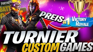 🔴 100€ CUSTOM GAMES TURNIER LIVE | FÜR ALLE | FORTNITE LIVE DEUTSCH