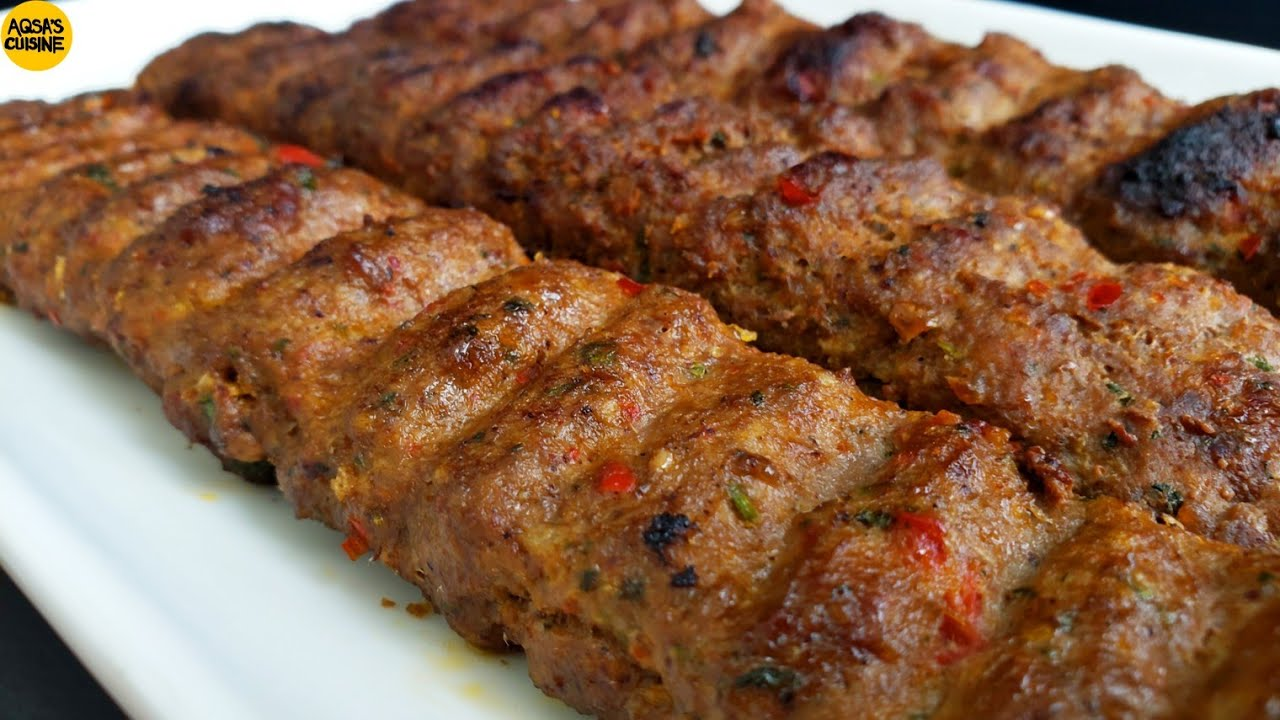 Turkish Adana Kebab Recipe Turkish Kebab Without Grill By Aqsa S Cuisine Youtube