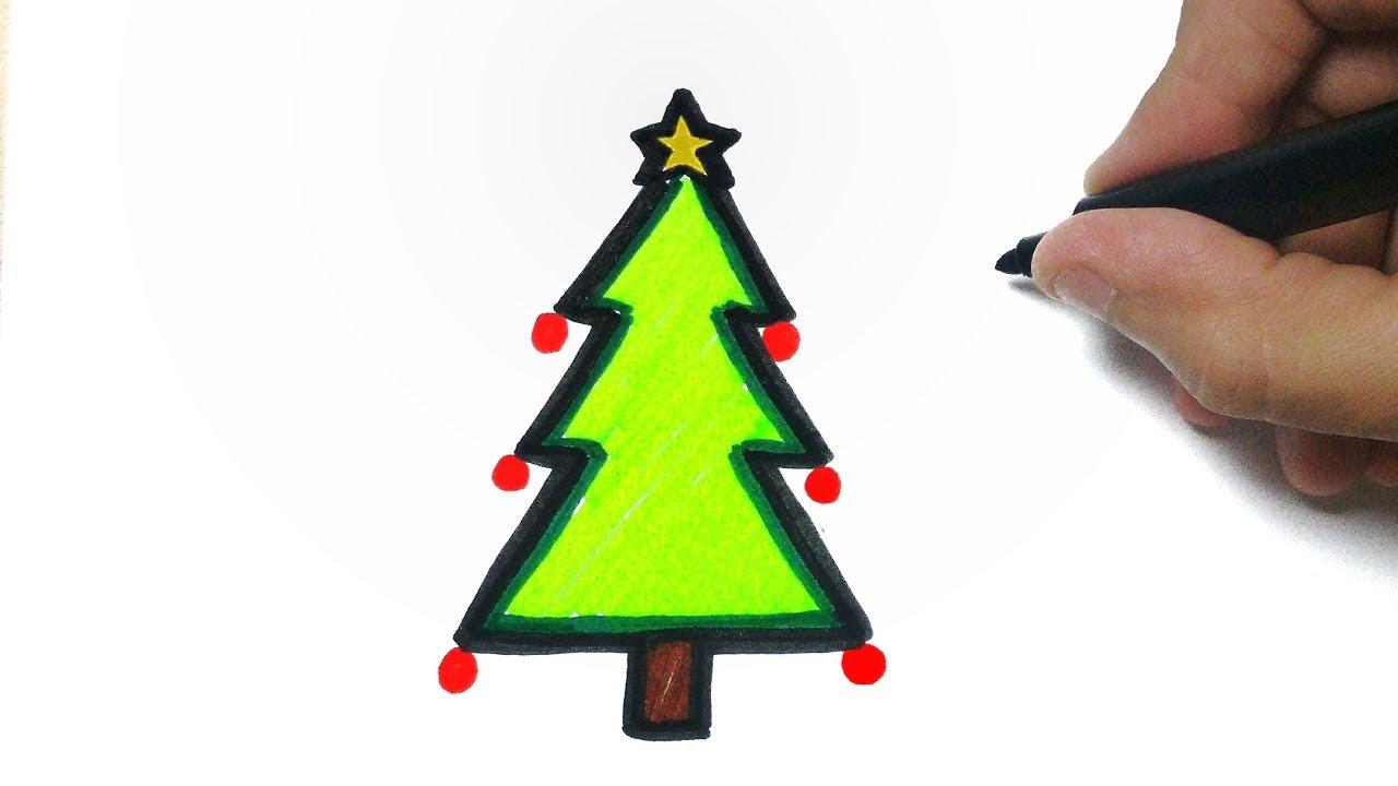 Como Desenhar Uma Arvore De Natal How To Draw Christmas Tree