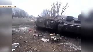 СМИ опубликовали новое видео украинских танков, предположительно, сожженных в котле под Дебальцево