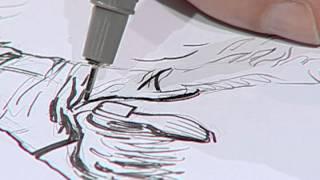 How to draw a cowboy in action 3/Dibujando un hombre en acción 3