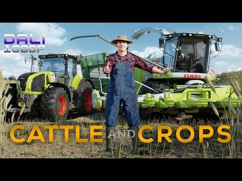 Cattle and Crops Steam Early Access - Harvesting corn with the Jaguar and 2 workers
