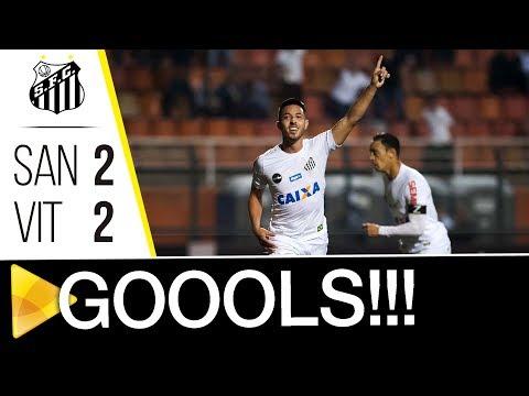 Santos 2 x 2 Vitória | GOLS | Brasileirão (16/10/17)
