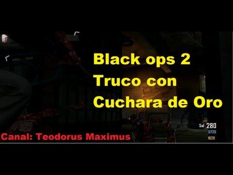 Call of duty black ops 2 truco con cuchara de oro
