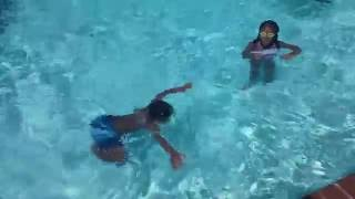 kids amazing swimming in pool underwater swim part 1 texas