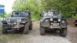 Jeep wrangler vs UAZ 469 off road Sovsko jezero
