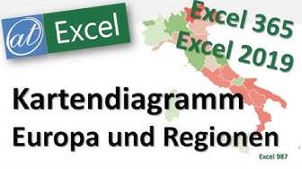 Kartendiagramm Europa und Regionen - Excel - Schreibweise