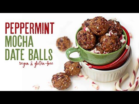 Peppermint Mocha Date Balls // oil-free, gluten-free, vegan