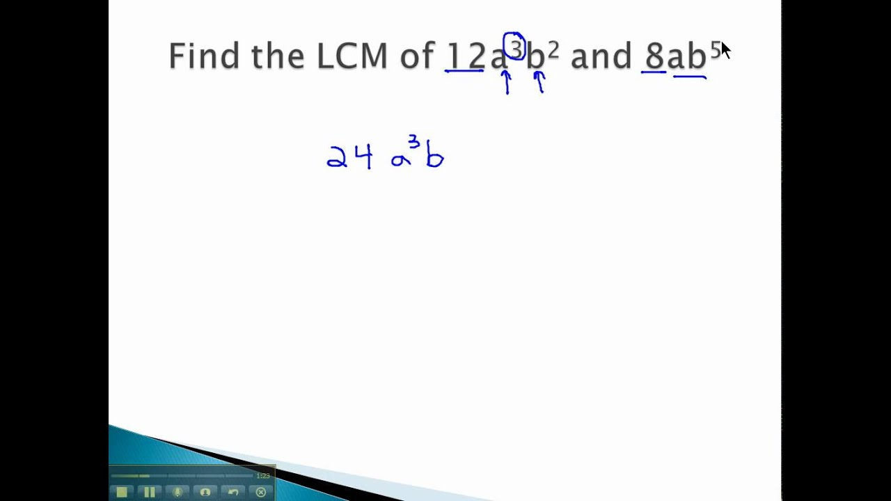 Lcm Lcm With Variables Youtube