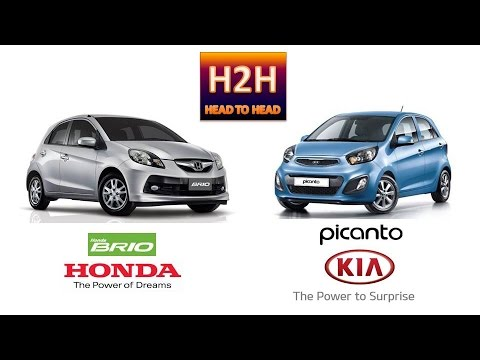 H2h 3 Honda Brio Vs Kia Picanto Youtube