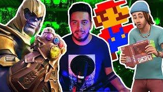 Fortnite y Thanos, Sims cobra vida, Streamea Mario Bros