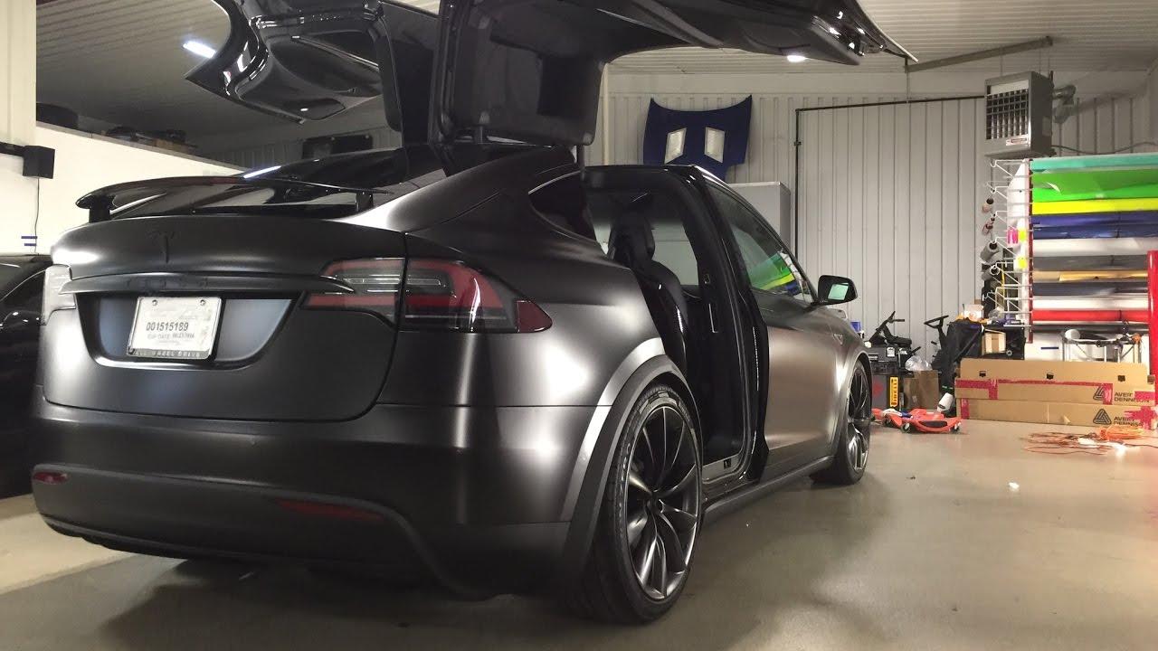 2016 Tesla Model X Full Car Vinyl Wrap Avery Dennison Satin
