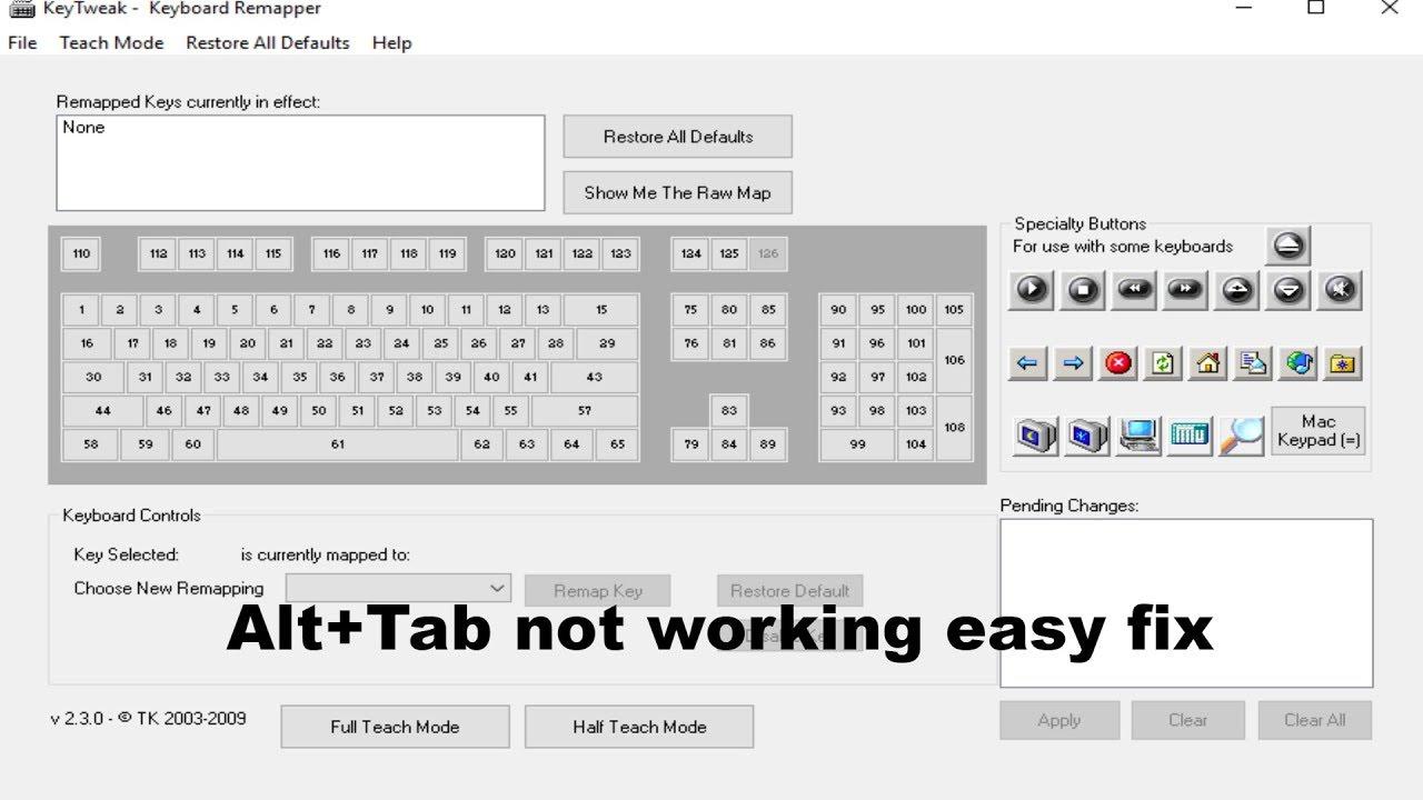 Alt+Tab key not working windows 10 fix - YouTube