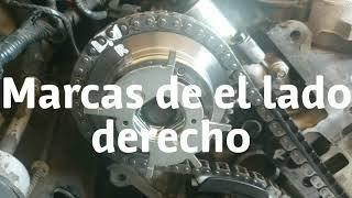 2004 - 2008 Ford 4.6l 5.4l Timing marks after kit replaced ( Marcas de tiempo y reemplazo de Cadenas