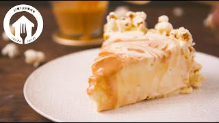 Salted Caramel Popcorn Cheesecake