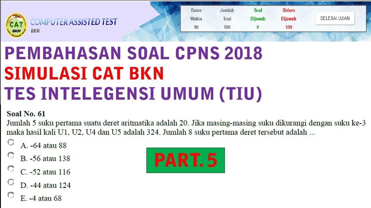 Pembahasan Soal Simulasi Cat Cpns 2018 Pola Bilangan Dan Deret