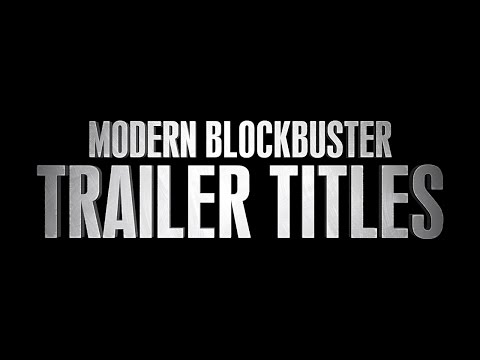 Modern Blockbuster Trailer Titles - FREE After Effects Template