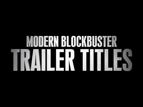 Modern Blockbuster Trailer Titles - FREE After Effects Template