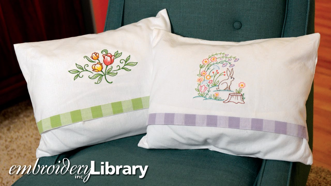 tea towel pillow project youtube
