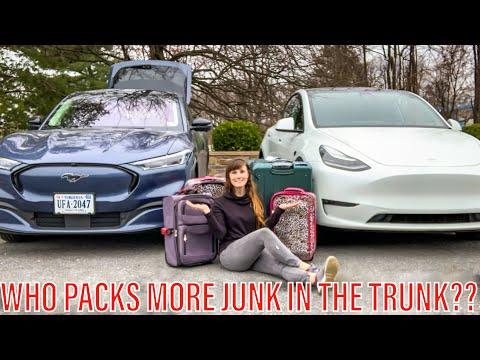 Comparing the Mustang Mach-E and Tesla Model Y's Luggage Space