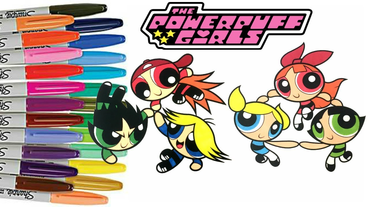 powerpuff girls coloring book bubbles blossom buttercup rowdyruff boys boomer brick butch ppg vs rrb - Coloring Books For Boys