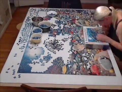 "5,000 piece Ravensburger Puzzle ""Beneath the Sea"" Time Lapse"