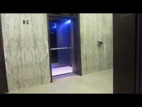 OTIS High Speed Traction Elevators @ Montparnasse Tower (going up) - Paris, France