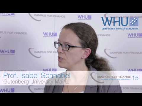 Interview with Isabel Schnabel - WHU New Year's Conference 2015