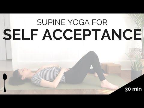 supine yoga for self acceptance — sleepy santosha