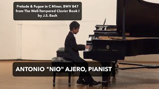 Bach Prelude and Fugue No. 2 in C Minor BWV 847 from WTC I