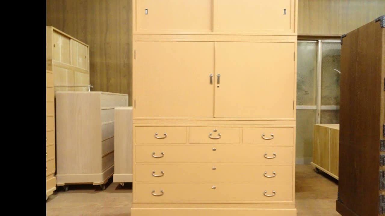 大阪泉州桐簞笥 松山の桐箪笥の天丸三つ重ね衣装箪笥の洗い替え修理  納品事例