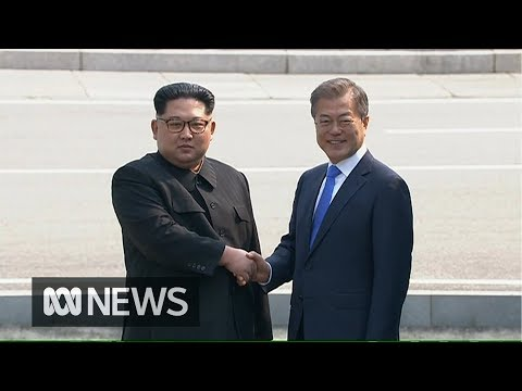 Kim Jong-un crosses border into South Korea for historic peace talks | ABC News