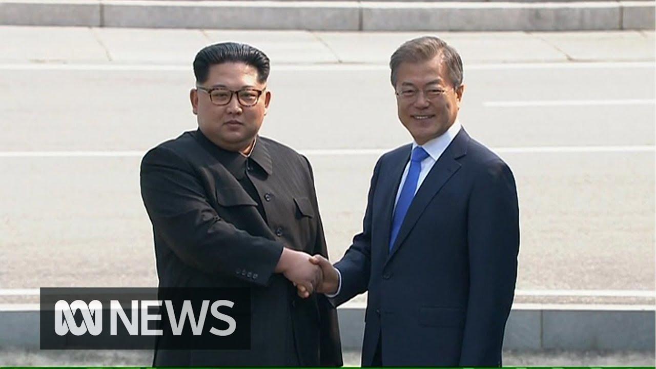Kim Jong Un Crosses Border Into South Korea For Historic Peace Talks Abc News Youtube