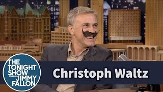 Christoph Waltz and Jimmy Kick Off Movember with Makeshift Mustaches
