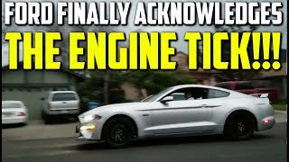 FORD FINALLY ACKNOWLEDGES THE 5.0L COYOTE ENGINE TICK WITH SERVICE BULLETIN 7718